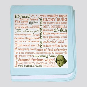 Shakespeare Insults baby blanket