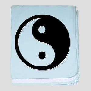 Black Yin Yang baby blanket