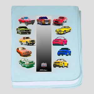 Mustang Gifts baby blanket
