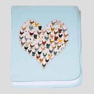 Chicken Heart baby blanket