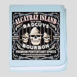 ALCATRAZ ISLAND BAD GUYS BOUR baby blanket