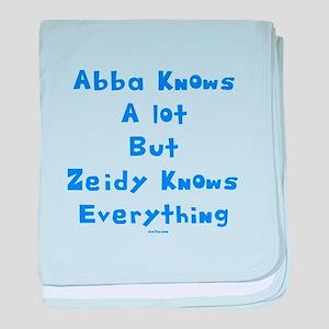 Zeidy Knows Jewish baby blanket