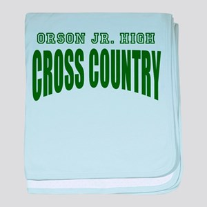 Orson Jr High Cross Country baby blanket