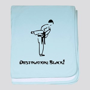 Destination Black Belt baby blanket