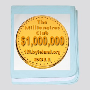 The Millionaires Club baby blanket