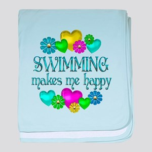 Swimming Happiness baby blanket