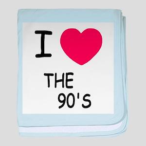 I heart the 90's baby blanket