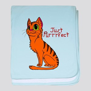 Just Purrrfect baby blanket