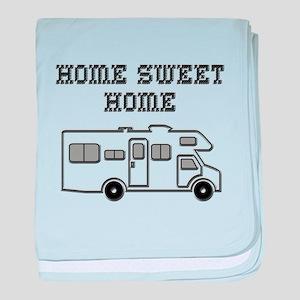 Home Sweet Home Mini Motorhome baby blanket