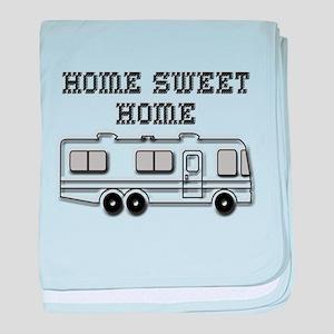 Home Sweet Home Motorhome baby blanket