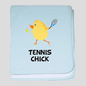 Tennis Chick baby blanket