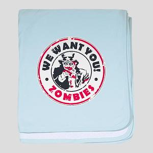 Zombies baby blanket