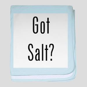 Got Salt? Black baby blanket
