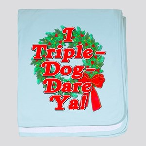 Triple Dog Dare A Christmas Story baby blanket