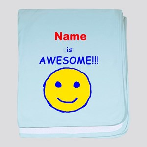 I am Awesome (personalized) baby blanket