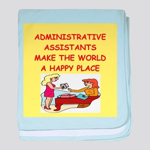 administrative assistant baby blanket
