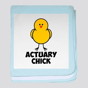 Actuary Chick baby blanket