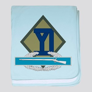 26th Infantry CIB baby blanket