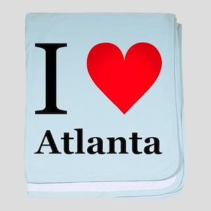 I Love Atlanta baby blanket