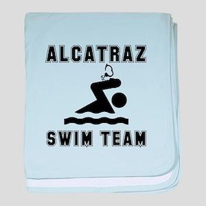 Alcatraz Swim Team baby blanket