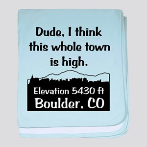 Boulder High Town baby blanket