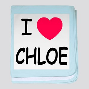 I heart chloe baby blanket