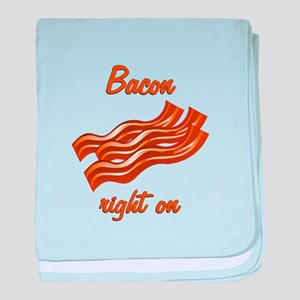Bacon Right On baby blanket