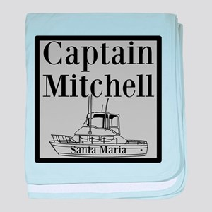 Personalized Captain baby blanket