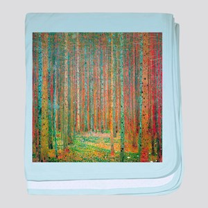 Gustav Klimt Pine Forest baby blanket