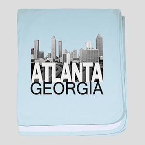 Atlanta Skyline baby blanket