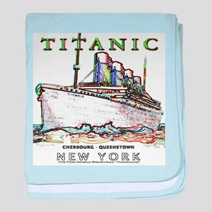 Titanic Neon (white) baby blanket