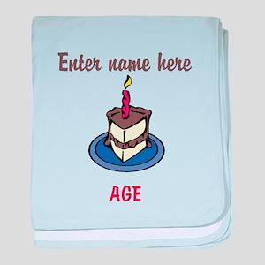 Personalized Birthday Cake baby blanket