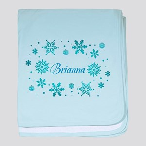Custom name Snowflakes baby blanket