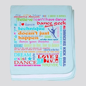 Ultimate Dance Collection baby blanket