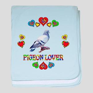 Pigeon Lover baby blanket