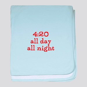 4:20 all day all night baby blanket