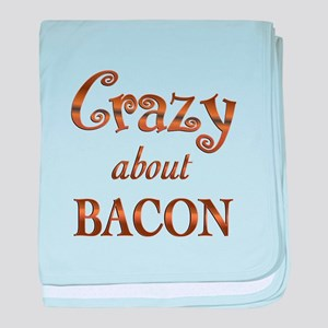 Crazy About Bacon baby blanket