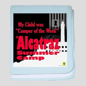 Alcatraz Summer Camp baby blanket