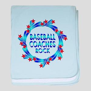 Baseball Coaches Rock baby blanket