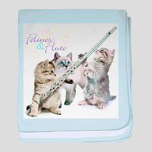 Felines Flute baby blanket