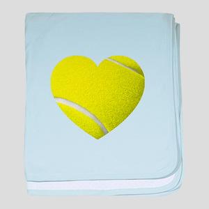 Tennis Heart baby blanket