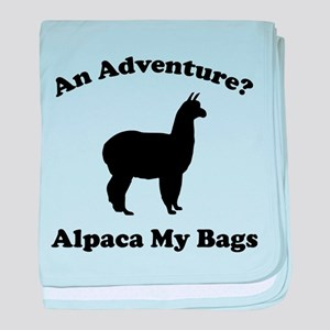An Adventure? Alpaca My Bags baby blanket