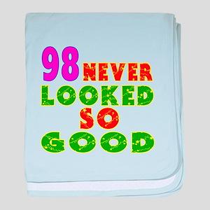 98 Birthday Designs baby blanket