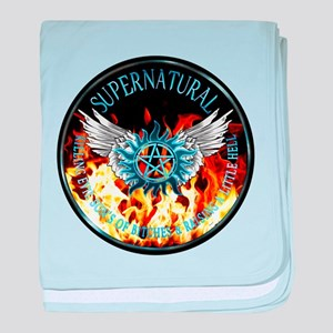 Supernatural protection Symbal Flames Ring Patch b