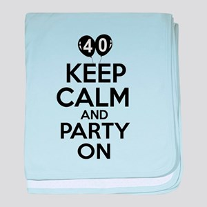 Funny 40 year old gift ideas baby blanket