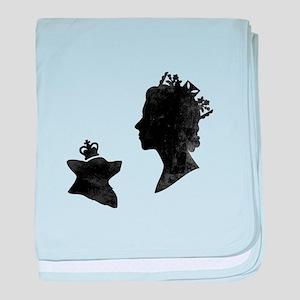 Queen and Corgi - Baby Blanket