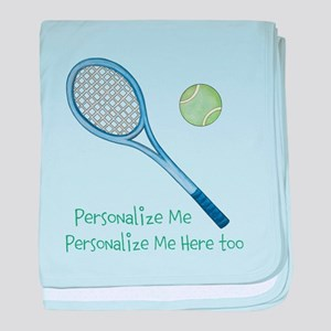 Personalized Tennis baby blanket