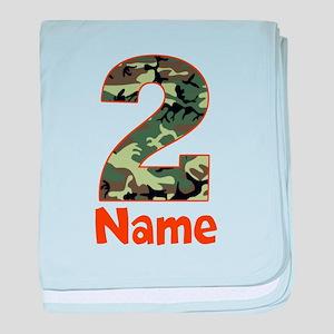 2nd Birthday Camo baby blanket