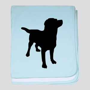 Dog Silhouette baby blanket