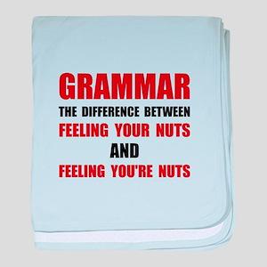 Grammar Nuts baby blanket